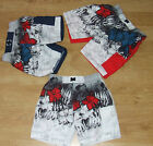 BOYS PATTERNED SWIM SHORTS WITH INNER LINING AND DRAWSTRING. THIGH POCKET.