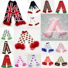 OTHER CROWN CAKE BERRY Print Baby Girl Cotton Ruffles Leg Warmer Legging Clothes