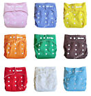 Baby Washable Reusable Real Cloth Pocket Nappy Cover Wrap+2 layers nappy inserts