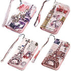 Lady Diamond PU Leather Wallet Flip Stand Case Cover For Apple iphone 4 4S 5 5S