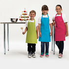 CHILDREN'S APRON IN 12 COLOURS PLAIN, OR ADD PRINTED OR EMBROIDERED CHILDS NAME