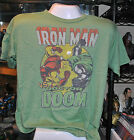 Iron man vs Doctor Doom Junkfood Adult T-Shirt / Marvel / Avengers / Tony Stark