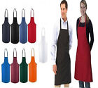 5 NEW BLACK RED ORANGE GREEN WHITE BLUE COMMERCIAL BIB APRON, WITH COLOR CHOICE