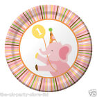 1st First Birthday SWEET AT ONE Baby Girl Birthday Party Plates Cups Napkins
