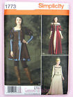 Simplicity 1773 Sewing Pattern Misses'/Ladies Medieval Fantasy Dress Costume