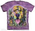 Big Face Russo Golden Retriever T-Shirt The Mountain. Giant Dog Head Tees S-3XL