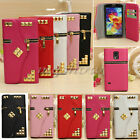 Zipper PU Leather Strap Pouch Wallet Case Cover For Samsung Galaxy S5 4 3/Note 2