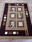Modern Beige Brown Floral Affordable Rug Carpet S - XL Large Sizes 40% OFF SALE