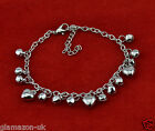 Cute Anklet Charm Bracelet Heart, Flower, Stars & Bells Brand New UK Free Post
