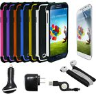 7x Combo Samsung Galaxy S4 i9500,Hybrid Case,Power Adapter,Car Charger,USB Cable