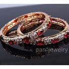 Luxury Openable Bangle 18k18ct Yellow Gold GF Genuine Czech Crystal Lady Jewelry