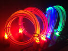 Glow In The Dark Light-up Led Usb Data Sync Cable Charger For Apple Iphone 4 6 5