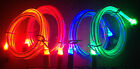 Glow In The Dark Light Led Usb Data Sync Cable Charger Iphone 4 4s Ipod Nano 6