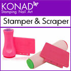 Konad Single/Double Sided 2 Way Nail Art Stamper Scraper Use with Image Plates