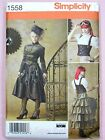 Simplicity 1558 Sewing Pattern Misses' Steampunk Outfit Costume Dress Jacket