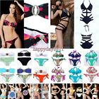 Women Lady Bandage Swimwear Push-Up Padded Bra Top Bottom Beach Suit Bikini Set