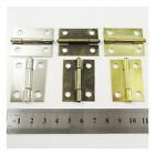 4 PLATED MINIATURE HINGES HARDWARE 37x29mm SMALL DOLLHOUSE JEWELLERY BOX CIGAR