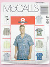 "McCall's 2149 Sewing Pattern - Mens Shirt  - Short/Long Sleeved   34-56"" Chest"