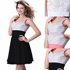 GK Beaded evening bridesmaid gown prom party Cocktail wedding Short Mini dress