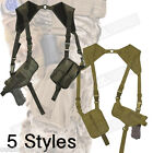 Right/Left Hand Tactical Shoulder Holster - One Size Fits Most/Dual Clip Pouches