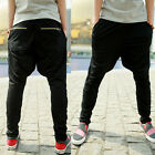 Mens Casual Sport Dance Hip Hop Trousers Baggy Jogging Harem Sweat Pants-US BD