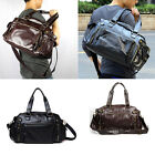 NEW HOT Men's PU Leather Travel Luggage Gym Duffle Satchel Shoulder Bag Handbag