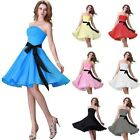 UK STOCK Formal Prom Dresses Bridesmaid Evening Party Graduation Short Gown 2014