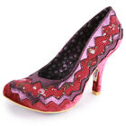 Irregular Choice Classy Kate Womens Fabric Heels Red Floral New Shoes All Sizes