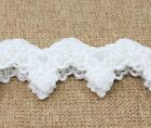 Embroidery Pearl Sequin Venise Applique Lace Trim Wedding Bridal Craft Dress