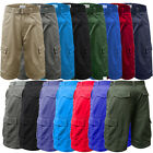 mens cargo shorts size 30 32 34 36 white red blue kahki black