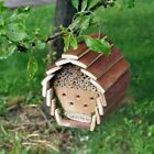 HANGING WOODEN INSECT BEE HOTEL HOUSE BO...