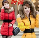 New Girls Long thick down padded coat fur collar winter coat special clearance