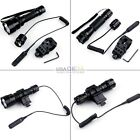 1000LM Bright CREE XM-L T6 LED Tactical Flashlight Pressure Switch For Rifle