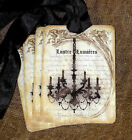 Hang Tags  FRENCH CHANDELIER LIGHT TAGS or MAGNET #539  Gift Tags
