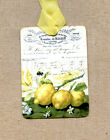 Hang Tags  FRENCH JOURNAL LEMONS TAGS or MAGNET #464  Gift Tags