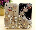 Handmade Paris Perfume Crystal Bling Diamonds Hard Cases Cover For iPhone5C XC5C
