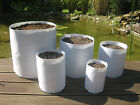 Round fabric grow pots Plant bag Smart root container  White -Multiple Sizes!!