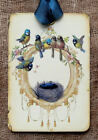 Hang Tags  FRENCH SONG BIRD NEST TAGS or MAGNET #170  Gift Tags