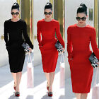 Fashion Womens Vintage Bodycon Cocktail Party Evening Wear To Work OL Prom Dress