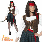 Adult Woman Pirate Lady Costume Caribbean Party Fancy Dress UK 8-26 Plus Size