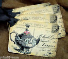 Hang Tags  FRENCH PARIS TEAPOT POSTCARD TAGS or MAGNET #47  Gift Tags