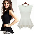 Unique Celebrity Fashion Party Office Lady OL Women Clothing Hem Tops Shirts W2