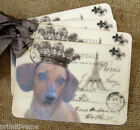 Hang Tags  FRENCH PARIS DACHSUND DOG POSTCARD TAGS or MAGNET #53  Gift Tags
