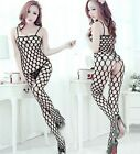 FD456 Sexy Cleavage Hollow Body Stocking Bodysuit Open Lingerie Cat Jumpsuits