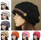 Women Braided Warm Rageared Baggy Winter Beanie Knit Crochet Ski Hat Cap 8 Color