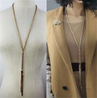 Womens Chain Necklace Bib Statement Chunky Collar Long Sweater Necklaces Hot