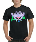 Sesame Street Count Von Count Face Adult T-Shirt