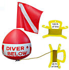 Scuba Snorkel Dive Flag Float inflatable vinyl vynl bouy buoy ball red white pkg