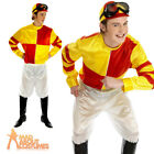 Adult Jockey Costume Red Yellow Horse Racing Fancy Dress Outfit