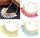 Fashion Bohemian Turquoise Tassel   Choker Chunky Bid Statement Collier Necklace